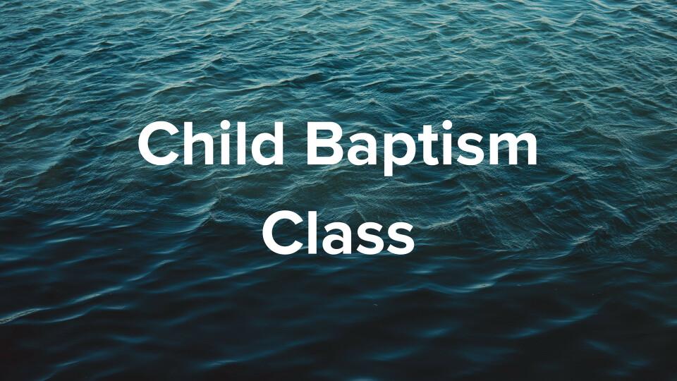 Children's Baptism Class