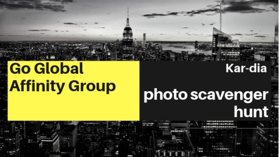 Kar-dia Go Global Affinity Group Photo Scavenger Hunt